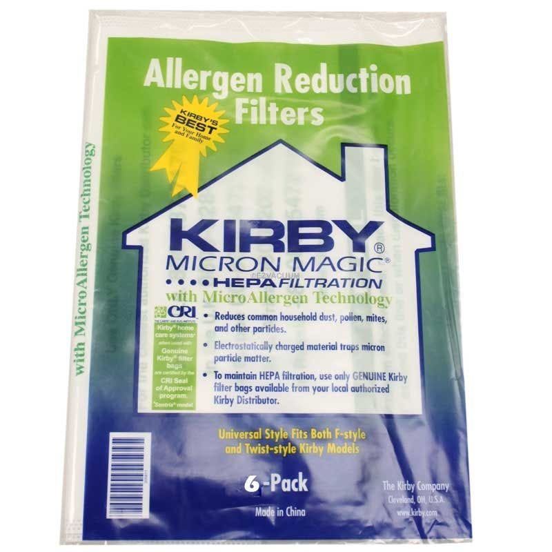 Kirby Avalir Vacuum Cleaner Bags 6 Micro Magic Filtration Bags With 0 3 Micron Filtration