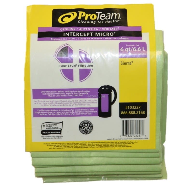 ProTeam 103227 Intercept Micro Filter Bags for Sierra Hummer Backpack