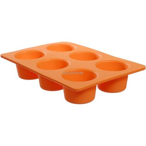 Casabella Muffin Pan Large Silicone Orange Each - Bakes 4 Muffin