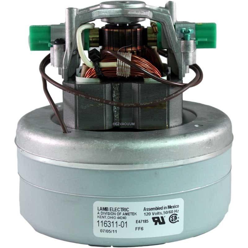 """16311-01  Motor, 5.7"""" 120 Volt B/B 2 Stage Thru-Flow"""