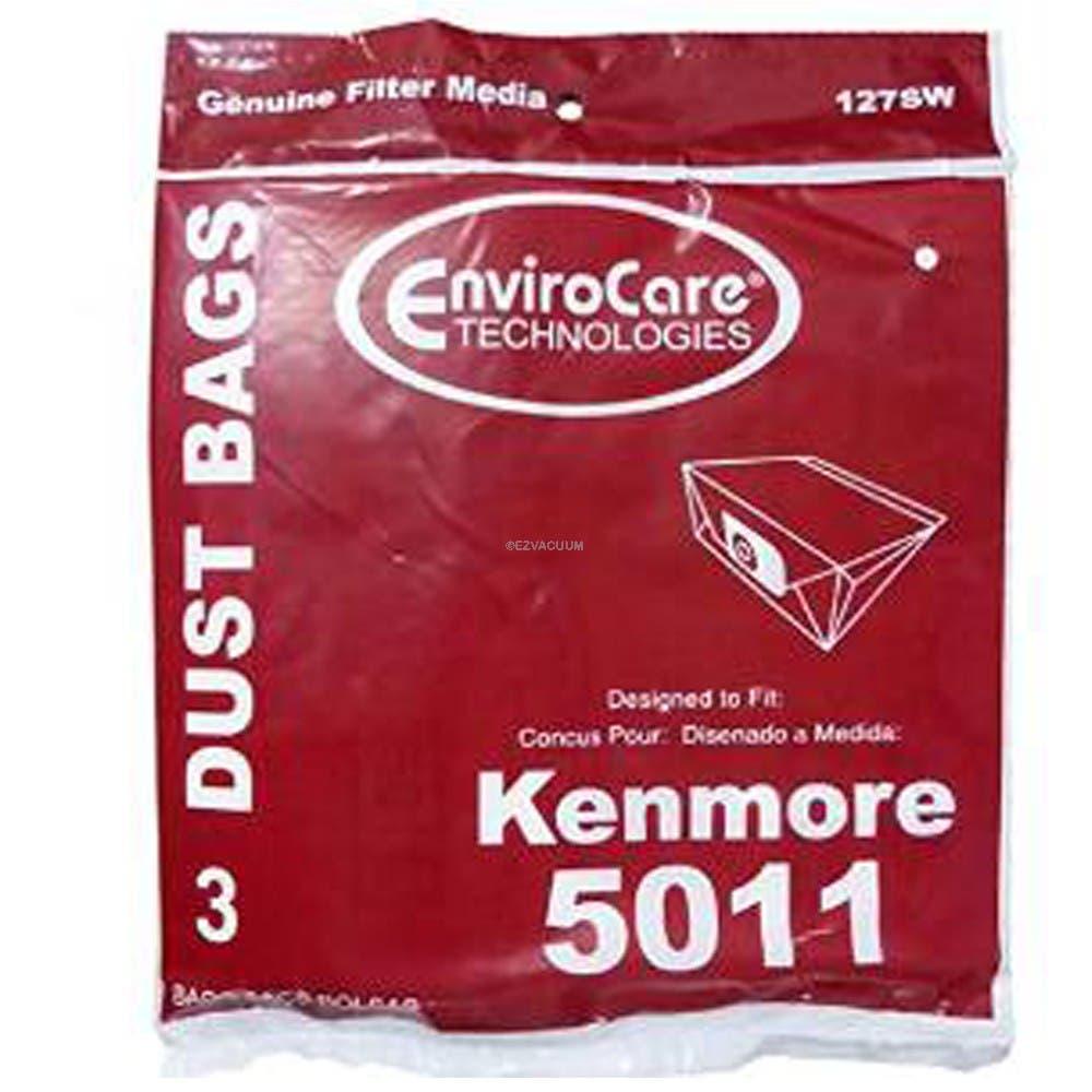 Kenmore 5011 Type P Vacuum Bags 761742 3 Pack