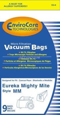 Eureka MM Micro Lined Vacuum Bags Super Saver 27 bags Pack
