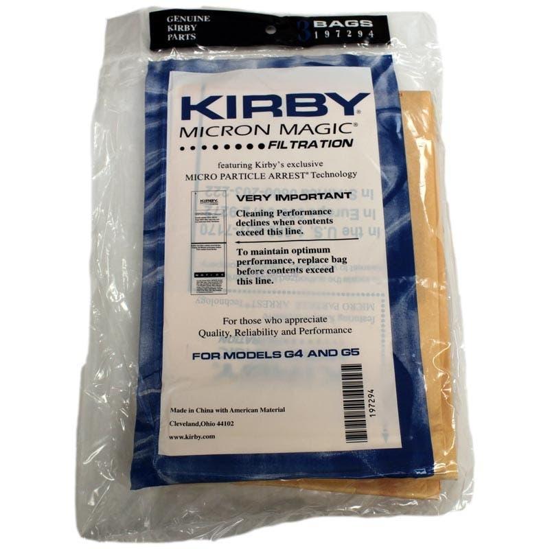 Kirby G4  G5 Vacuum Cleaner Bags  197294S - Genuine - 3 Pack.