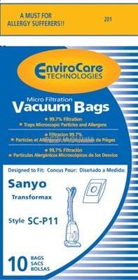 Sanyo SC-P11 Transformax Bags-  Generic - 10 pack