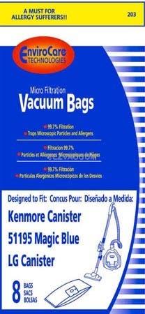 Kenmore 51195 Magic Blue Bags - 32 Bags - Generic