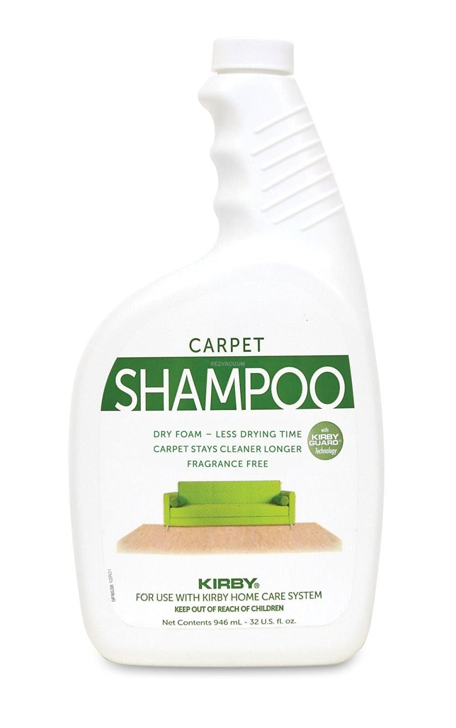 SHAMPOO-KIRBY ''ALLERGEN'' 32oz. BOTTLES,ORIGINAL UNCENTED
