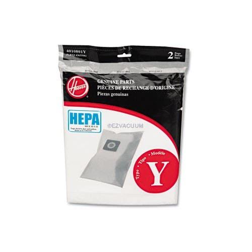 Hoover Y Filtrete HEPA Vacuum  Bags 4010801Y - Genuine - 2 Pack