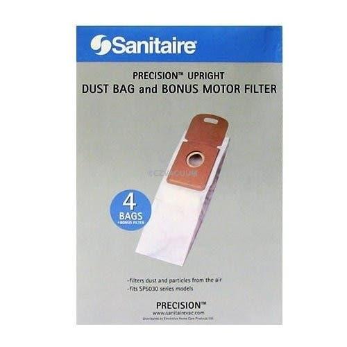 Eureka Electrolux EL205 / Sanitaire Precision SP205  Dust Bag plus Monus Motor Filter - Genuine - 4 bags and 1 filter