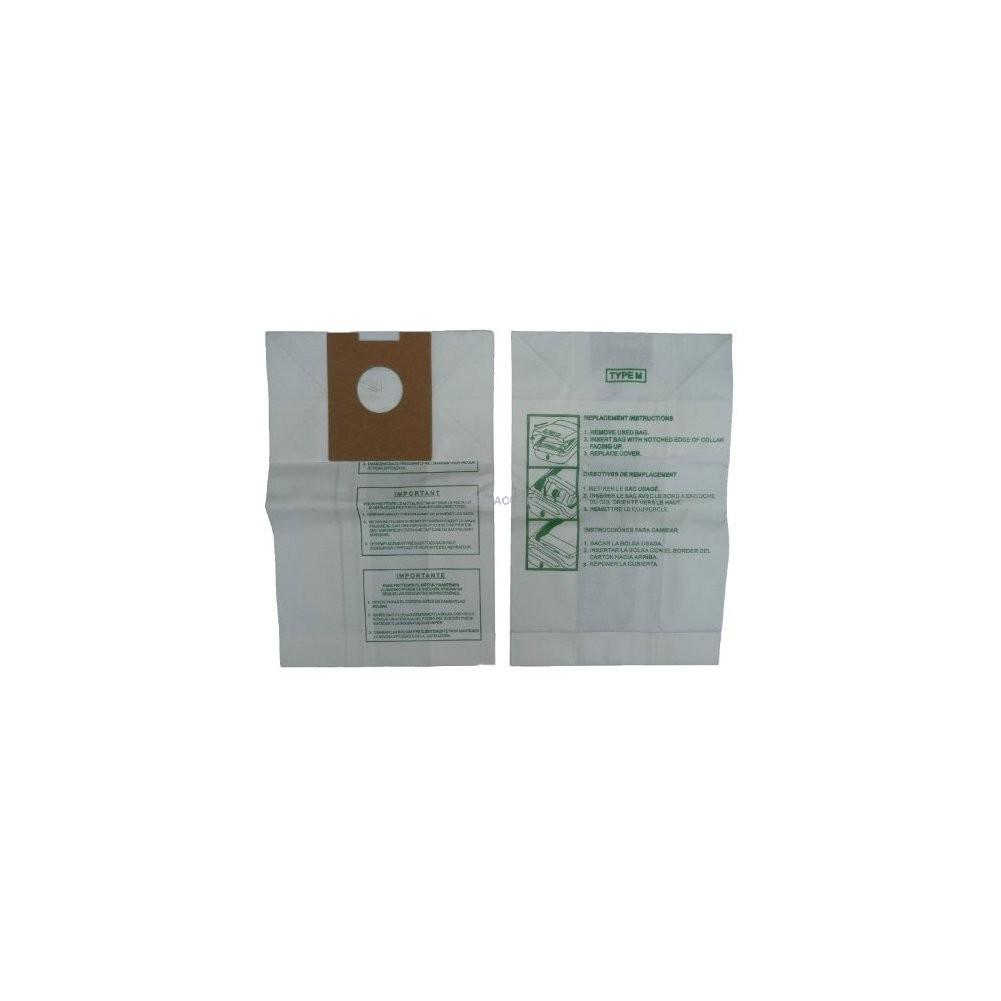 4010037M Type M Dimension Canister Vacuum Bags 12 Hoover 113SW