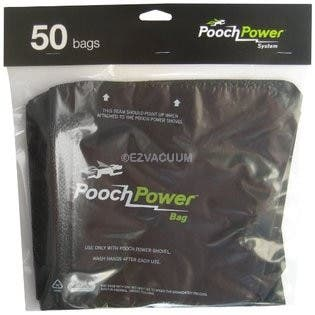 Pooch Power Shovel  Vacuum Waste Removal Refill Bags - 50 Bags