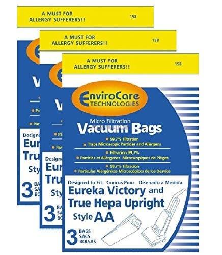 Eureka Style AA Vacuum Bags Microfiltration 9 pack