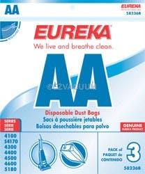 Eureka Aa Vacuum Bags 58236b Genuine 3 Pack