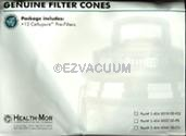 Filter Queen 12 Pack Cone Filters - Genuine