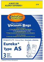 68155 AS Vacuum Allergen Style Bags Airspeed Upright Vac AS1050 3 Eureka 319