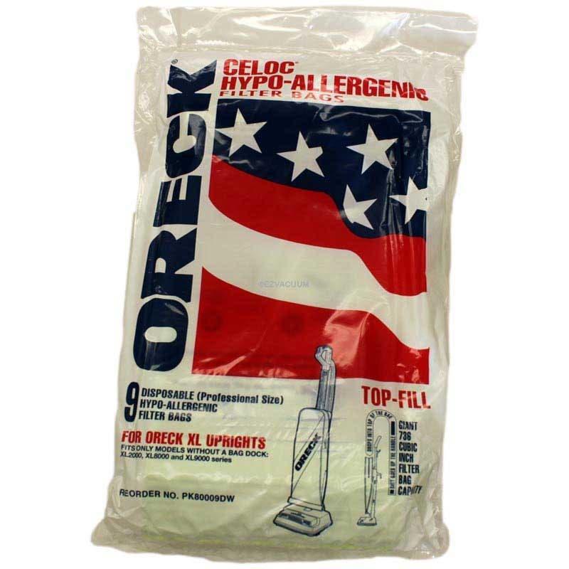 oreck xl 9100 bags