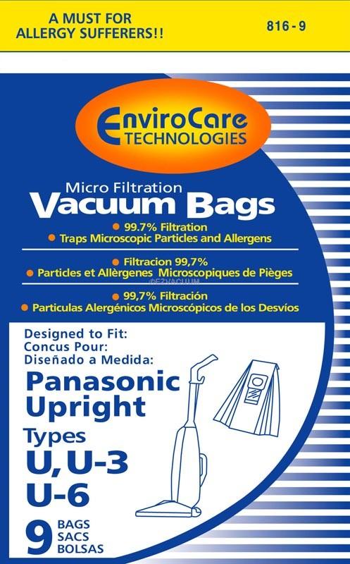 Bernina Evolution Type U Micron Vacuum Cleaner Bags - 27 bags - Generic