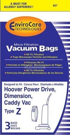 Hoover Z Allergen Vacuum  Bags  4010100Z / 4010075Z - Generic -3 Pack
