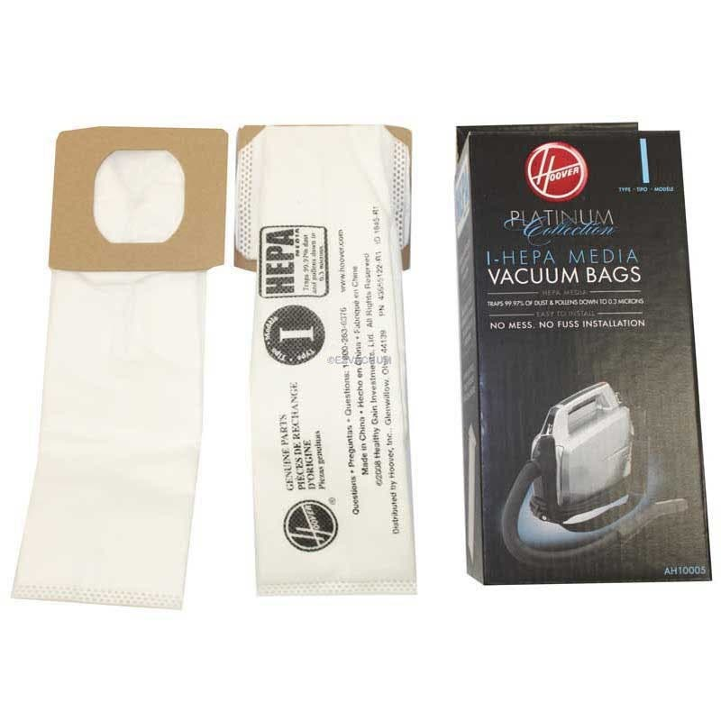 Hoover Type I Hepa Vacuum Bags For Platinum Canister Uh30010com Genuine Part Ah10005