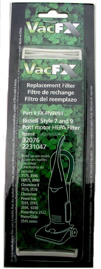 Bissell 32076 Style 7, 9 HEPA filter