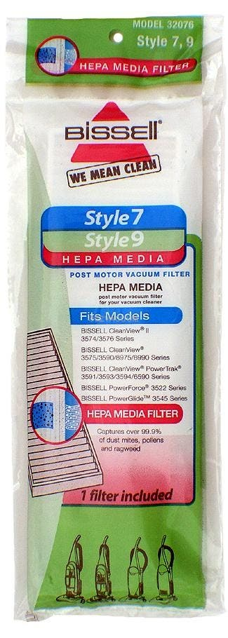Genuine Bissell 32076 Style 7, 9 HEPA filter