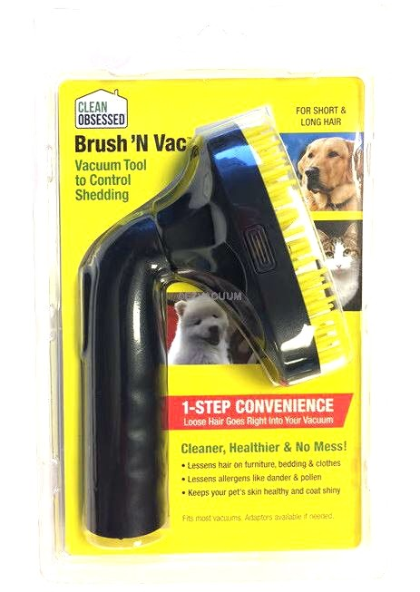 Clean Obsessed Pet Brush & Vac Tool, Poly Bag Pkg