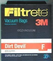 Dirt Devil F Filtrete 3M HEPA Vacuum Bags - 3 Pack