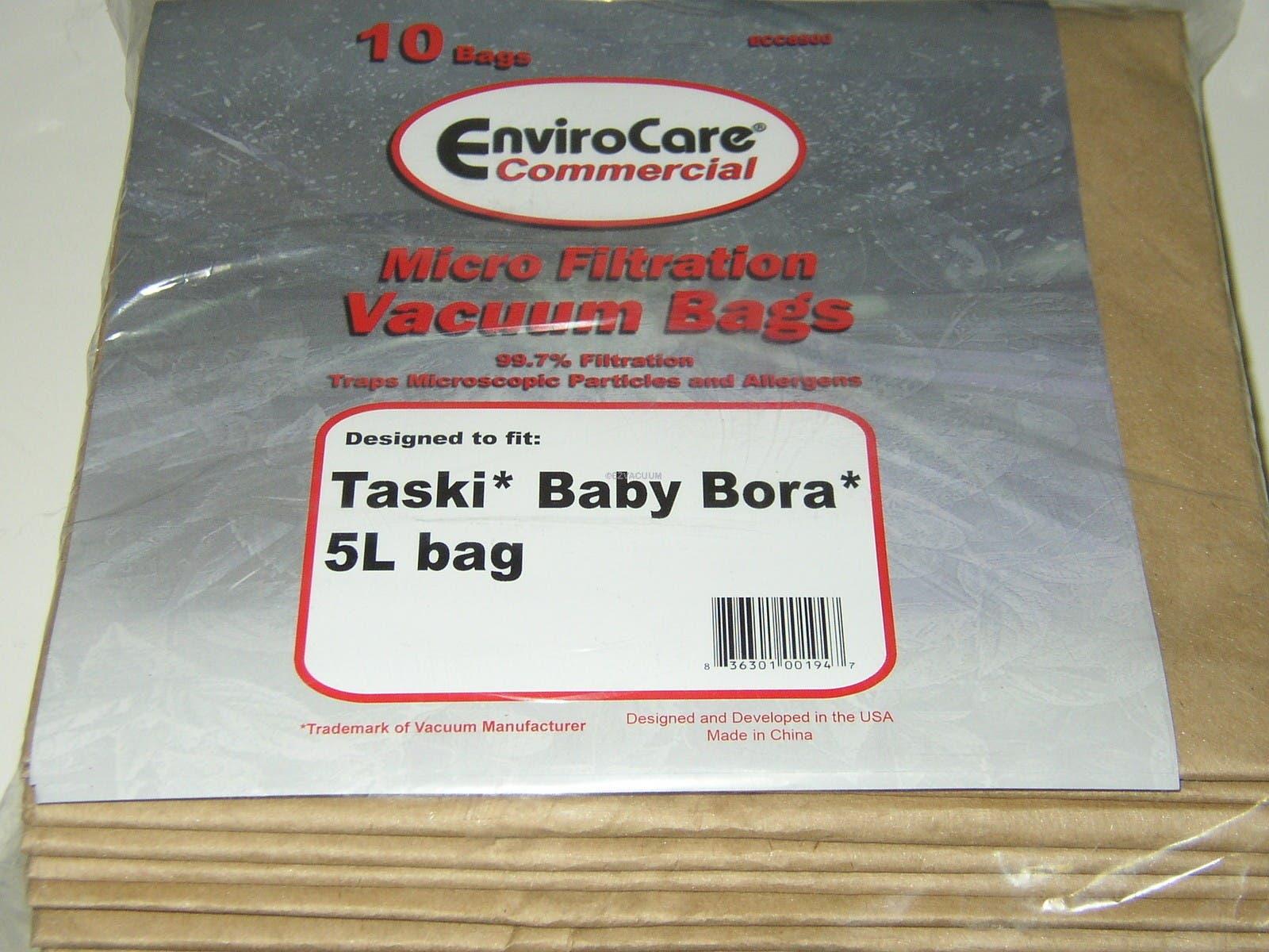 Taski Baby Bora 5L Commercial Vacuum Bags # ECC8500 - Generic - 10 pack