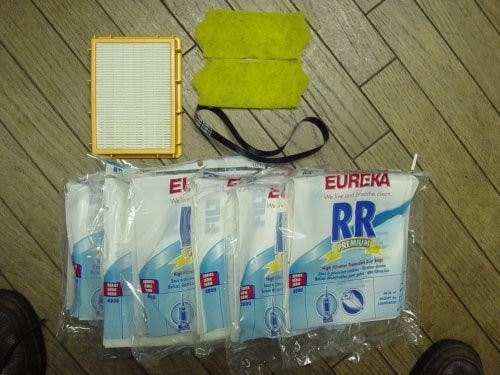Eureka Vacuum 4870 Smart Vac 1 Year Supply Kit; Includes 18 Eureka Vacuum Style RR Bags, 1 Eureka Vacuum HF2 Filter, 1 Eureka Vacuum R Belt, 2 Eureka Vacuum 70082 Motor Filters