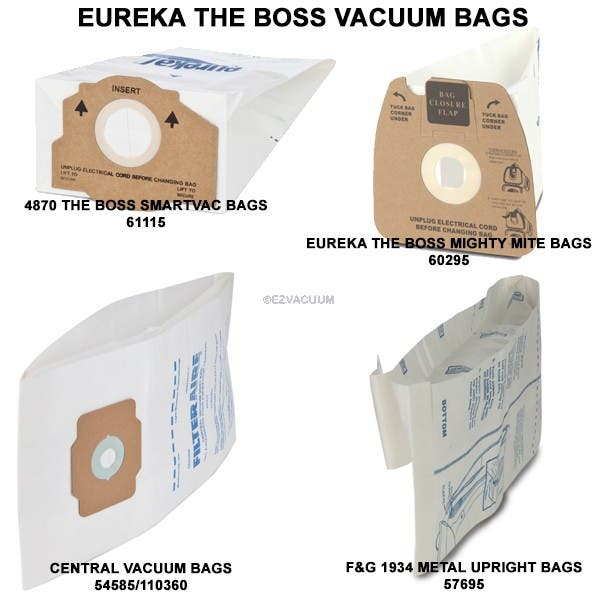Eureka The Boss Vacuum Bags Mm Rr F G