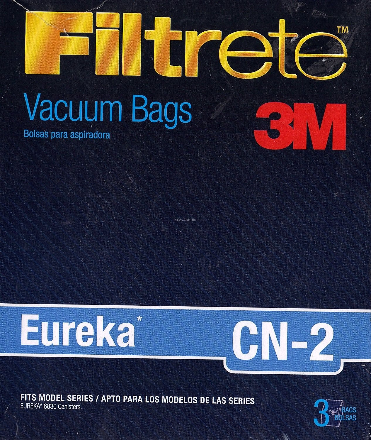 Eureka Type CN-2 Synthetic Bags by Filltrete 3M - 3 Pack