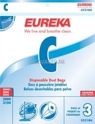 Eureka C Vacuum Bags 52318B - Genuine - 3 Pack