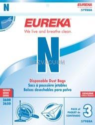 Eureka N Vacuum Bags 57988A- Genuine  - 3 Pack