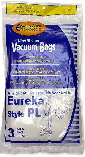 Eureka PL Upright Vacuum Bags - Generic - 3 pack 62389A, 62389, 67707,