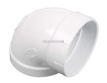 90 Degree Short L for 2 x 3 Walls Central Vacuum Fitting