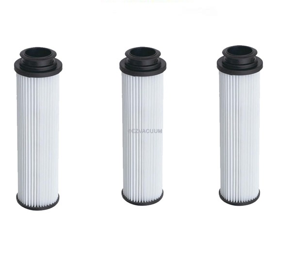 Hoover 40140201 or 43611042 Bagless Upright Round HEPA Filters - 3 Pack