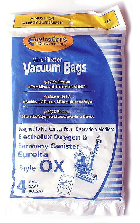 Electrolux Style OX or Style S  Micro-Filtration vacuum cleaner bags- Generic - 4 pack   S-Bag