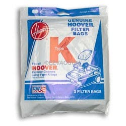 Hoover K 4010028K Vacuum  Bags - 3 Pack