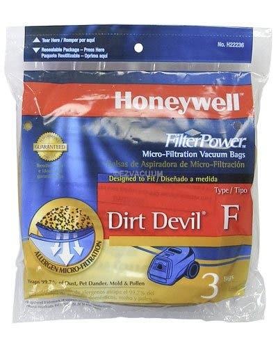 Honeywell FilterPower Micro-Filtration Vacuum Bags - Dirt Devil Type F