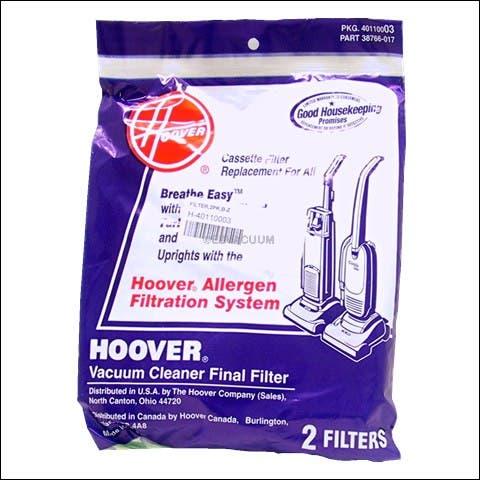 Hoover Three Layer Alergan Final Filter for Breatheasy & Caddyvac - 40110003