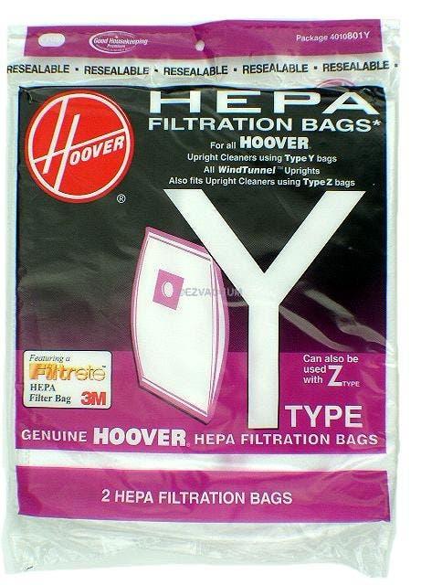 Hoover Y Or Z Vacuum Bags Genuine 2 Pack