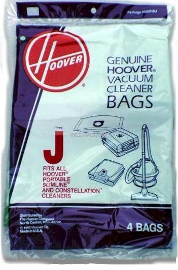 Hoover  J  Vacuum  Bags 4010010J- Genuine - 4 pack