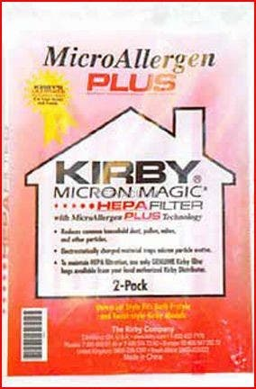PAPER BAGS-KIRBY,MICROALLERGEN PLUS,2PK,UPRIGHT FITS GEN 4 thru AVALIR