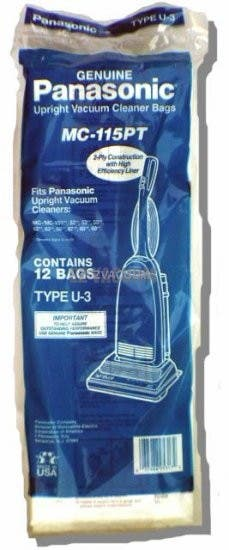 Belvedere Supreme 2-Ply Filtration Vacuum Bags - Genuine-3 Pack