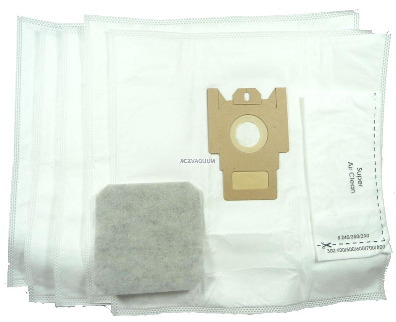 Miele Type GN Vacuum Cleaner Bags for Miele S5 Series Canisters - Generic - 5 Bags + 2 Filters