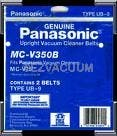 Panasonic MC-V350B Type UB 9 Belts - Genuine - 2 pack