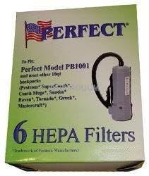 Perfect 10 Quart Backpack HEPA Filtration Vacuum Bags - 6 Pack