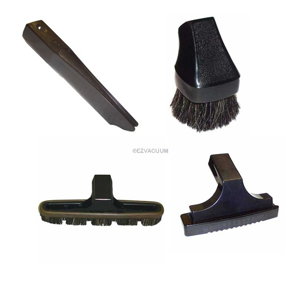 Rainbow Vacuum Accessories Attachment Combo Kit: Floor Brush, Crevice Tool, Dusting & Upholstery Tool