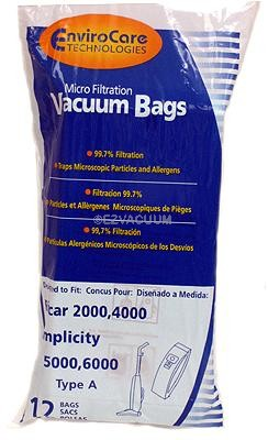 Carpet Pro Envirocare Anti-Bacterial Upright Vacuum Bags - 48 bags