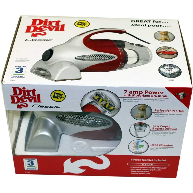 Dirt Devil M0100 Bagless Handheld Vacuum Hand Held Vacuums