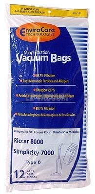 Belvedere High Filtration Upright Vacuum Bags- 12 pack